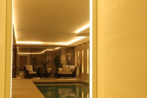 Weybridge Pool Archway Lighting